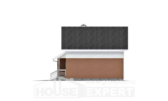 120-002-L Two Story House Plans and mansard with garage in back, classic Custom Home Plans Online,