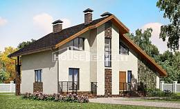 180-008-L Two Story House Plans with mansard roof with garage under, beautiful House Planes,