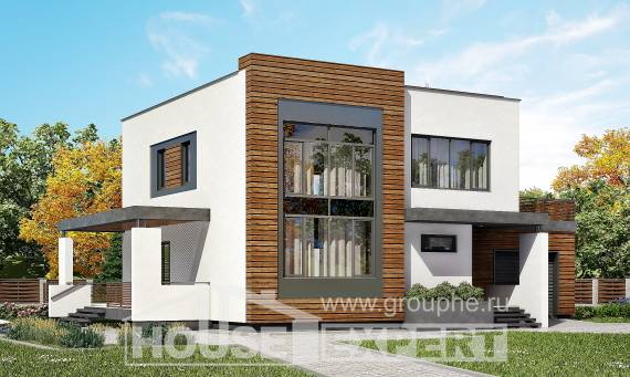 220-003-R Two Story House Plans with garage, modern Construction Plans,