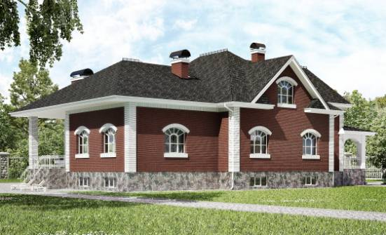 600-001-R Three Story House Plans and mansard with garage, big House Plan,