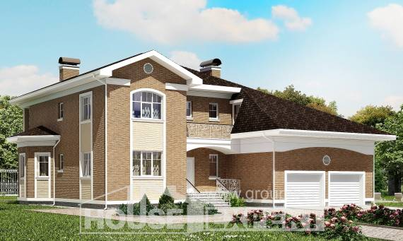 335-002-R Two Story House Plans with garage in back, a huge House Planes,