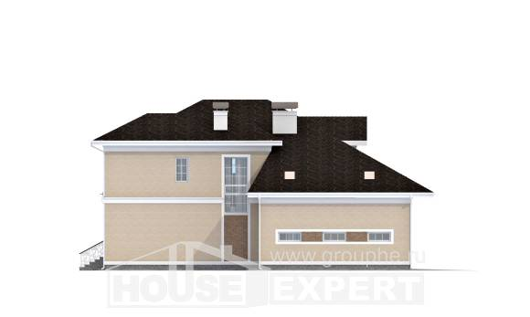 335-001-L Two Story House Plans with garage in front, luxury Tiny House Plans,