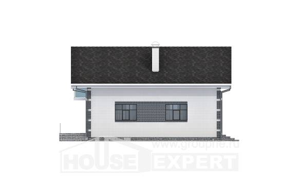 180-001-R Two Story House Plans with mansard with garage, classic Plan Online,