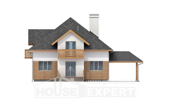 155-004-R Two Story House Plans and mansard and garage, beautiful Plans To Build,