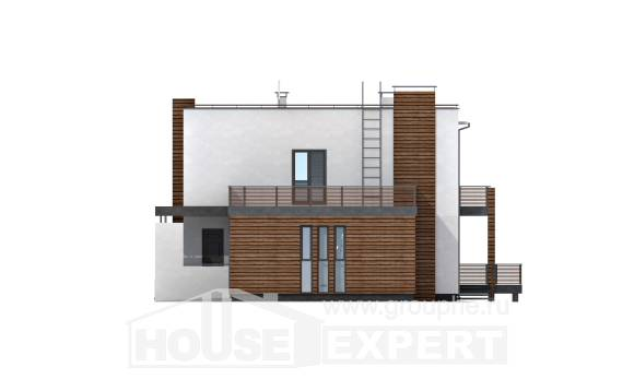220-003-R Two Story House Plans with garage in back, modern Drawing House,