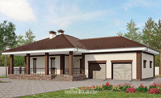 160-015-R One Story House Plans with garage in front, best house House Plan,