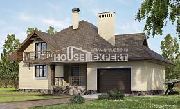 275-003-R Two Story House Plans with mansard with garage under, classic Woodhouses Plans,