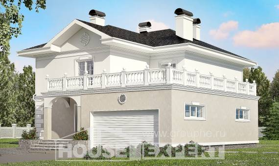 340-002-R Two Story House Plans with garage in front, cozy Custom Home,
