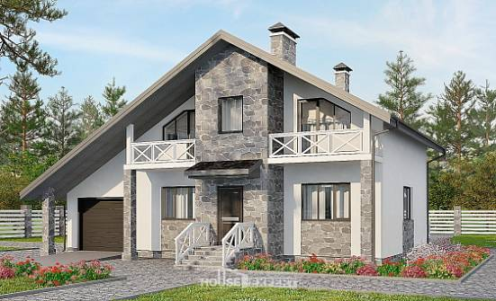 180-017-L Two Story House Plans with mansard with garage, best house Plan Online,