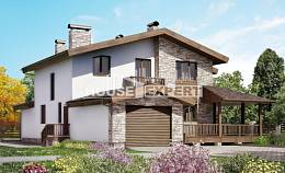 220-001-R Two Story House Plans and mansard with garage in back, spacious Tiny House Plans,