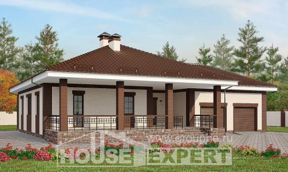 160-015-R One Story House Plans with garage in back, a simple Woodhouses Plans,