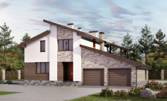 240-004-R Two Story House Plans and mansard with garage in front, spacious House Planes,