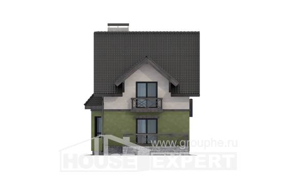 120-003-R Two Story House Plans, compact Ranch,