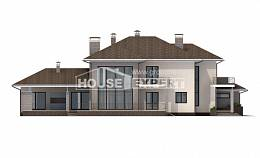 500-001-R Three Story House Plans with garage in back, cozy Tiny House Plans,