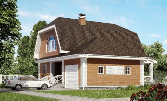 160-006-R Two Story House Plans and mansard and garage, beautiful House Blueprints,