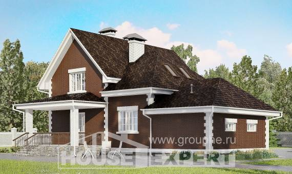 190-003-L Two Story House Plans with mansard with garage in front, best house Home House,
