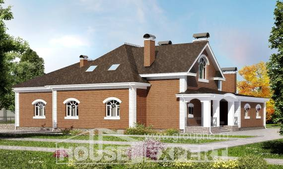 400-003-R Two Story House Plans with mansard roof, beautiful Building Plan,