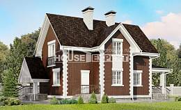 190-003-L Two Story House Plans with mansard with garage in front, spacious Custom Home Plans Online,