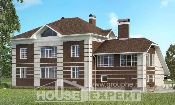 505-002-L Three Story House Plans with garage, beautiful Building Plan,