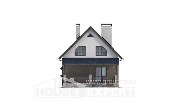 130-003-R Two Story House Plans and mansard, small Architect Plans,