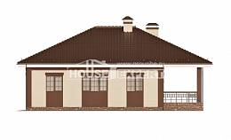 160-015-R One Story House Plans and garage, the budget Design Blueprints,