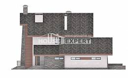 270-003-L Two Story House Plans with mansard with garage in front, best house Models Plans,