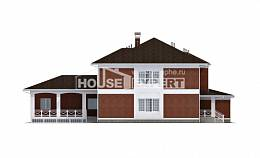 315-001-R Two Story House Plans with garage under, a huge Tiny House Plans,