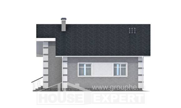 115-001-L Two Story House Plans with mansard roof, modern Planning And Design,