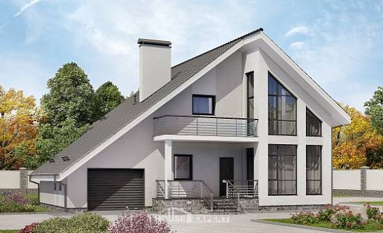 200-007-L Two Story House Plans with mansard roof with garage, classic House Plans,