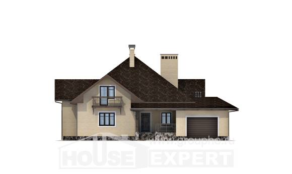 275-003-R Two Story House Plans with mansard and garage, classic Models Plans,