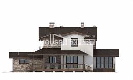 220-001-R Two Story House Plans with mansard roof with garage under, modern Woodhouses Plans,