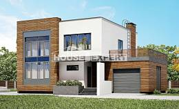 220-003-R Two Story House Plans with garage in front, cozy House Planes,