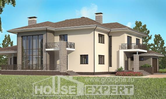 500-001-R Three Story House Plans with garage in front, a huge Blueprints,