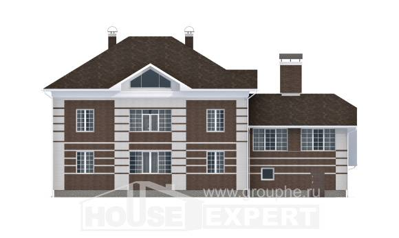 505-002-L Three Story House Plans with garage, luxury Custom Home Plans Online,