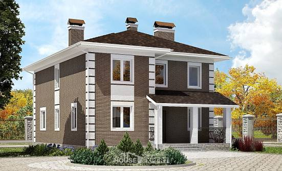 185-002-R Two Story House Plans, cozy Home Blueprints,