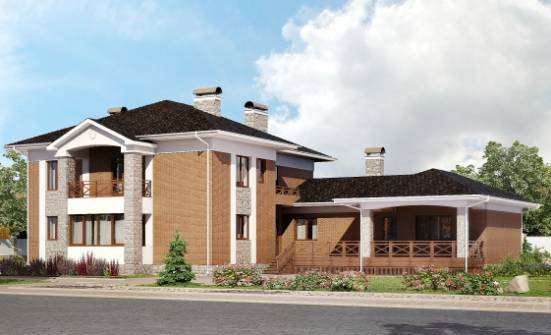 520-002-L Three Story House Plans with garage under, beautiful Design House,