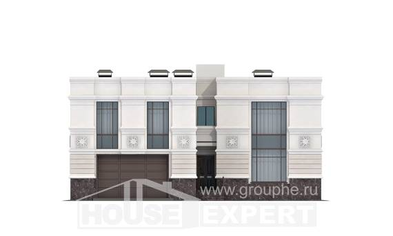 400-005-L Two Story House Plans with garage under, beautiful Architects House, House Expert