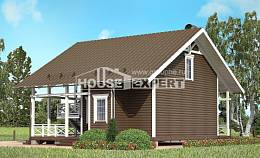 080-001-R Two Story House Plans with mansard roof, a simple House Building,