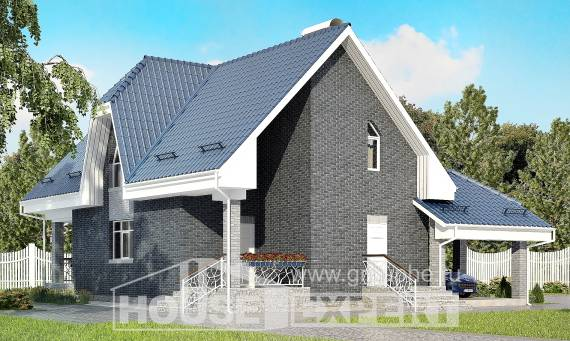 125-002-L Two Story House Plans and mansard with garage in front, available Architects House,