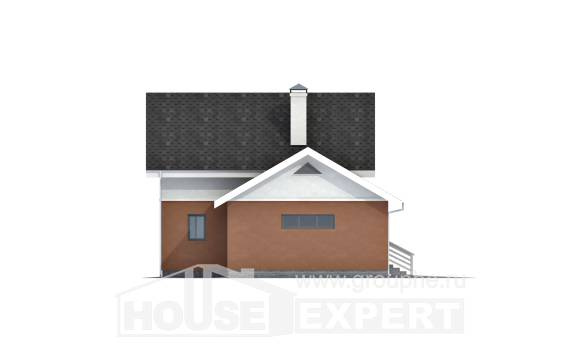 120-002-L Two Story House Plans and mansard with garage, classic House Plans,
