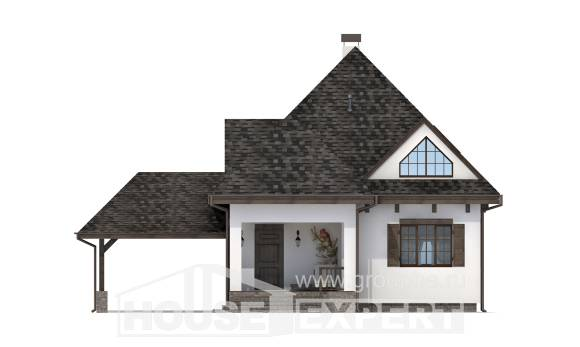 110-002-L Two Story House Plans with mansard roof with garage, modest House Online,