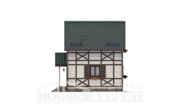 060-002-R Two Story House Plans and mansard, modern Blueprints,