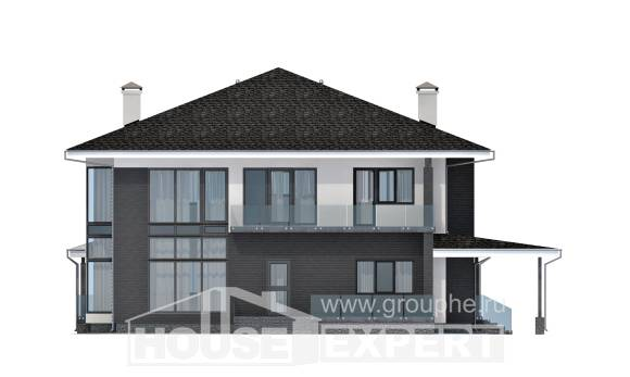 245-002-R Two Story House Plans with garage, spacious Models Plans,