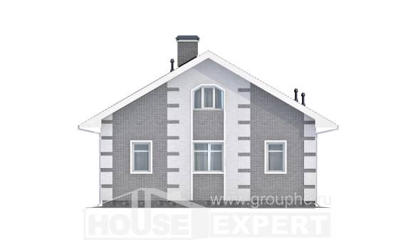 115-001-L Two Story House Plans with mansard, available Custom Home,