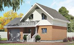 120-002-L Two Story House Plans and mansard with garage in back, a simple Plans Free,