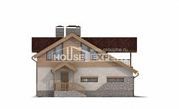 165-002-R Two Story House Plans with garage in back, available Custom Home, House Expert