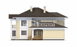 375-002-L Two Story House Plans and garage, a huge Custom Home,