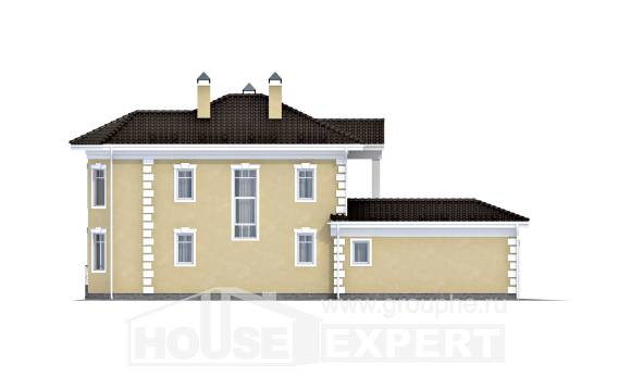 150-006-L Two Story House Plans with garage in front, classic Cottages Plans,