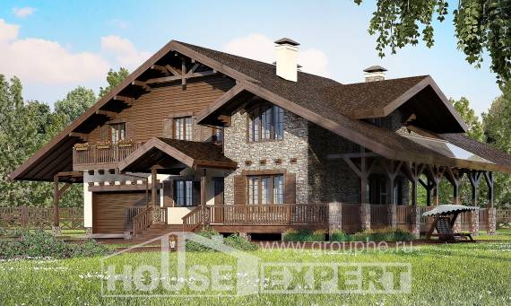 320-001-R Two Story House Plans and mansard and garage, cozy Construction Plans,