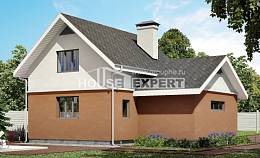 120-002-L Two Story House Plans with mansard with garage in front, cozy Design House,